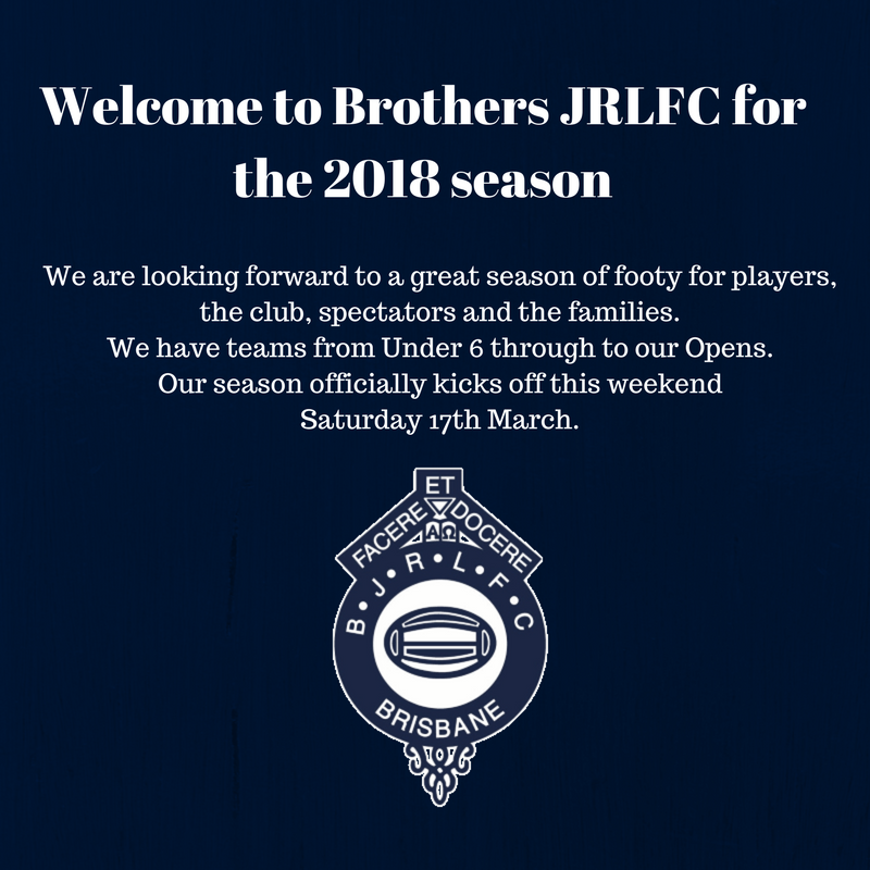 Welcome to  Brothers JRLFC for the 2018 season